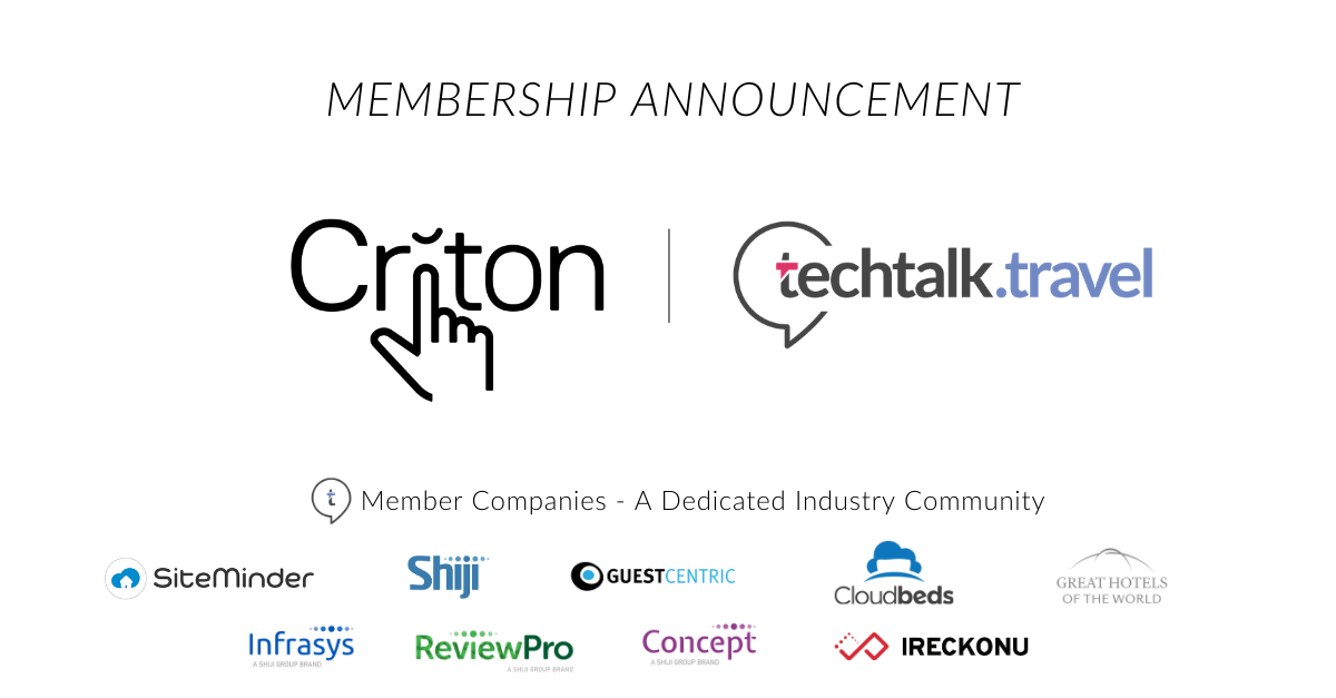 Membership Announcement l Criton joins techtalk.travel