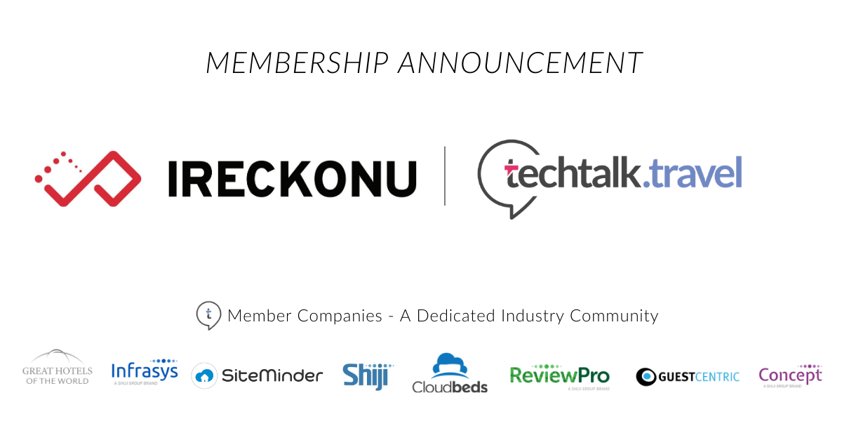 Membership Announcement l IRECKONU joins techtalk.travel